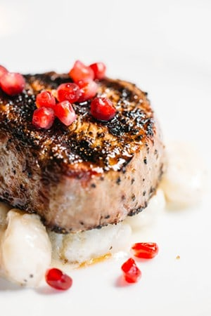 Best Steaks in Dallas - Steak Addison - Steak Dinner with Beef tenderloin