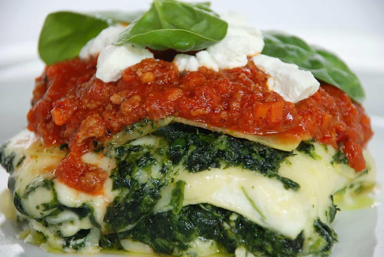 Spinach Lasagna and Gorji Gourmet Arrabiata Diavolo