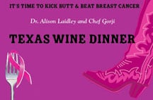 Kick Butt and Beat Breast Cancer Wine Dinner