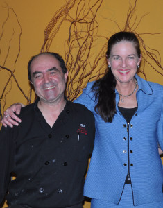 Chef Gorji and Dr. Alison Laidley host dinner benefiting breast cancer.