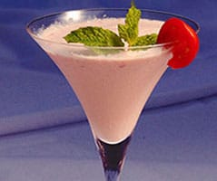 tomato ice cream smoothie, a fine dining dessert