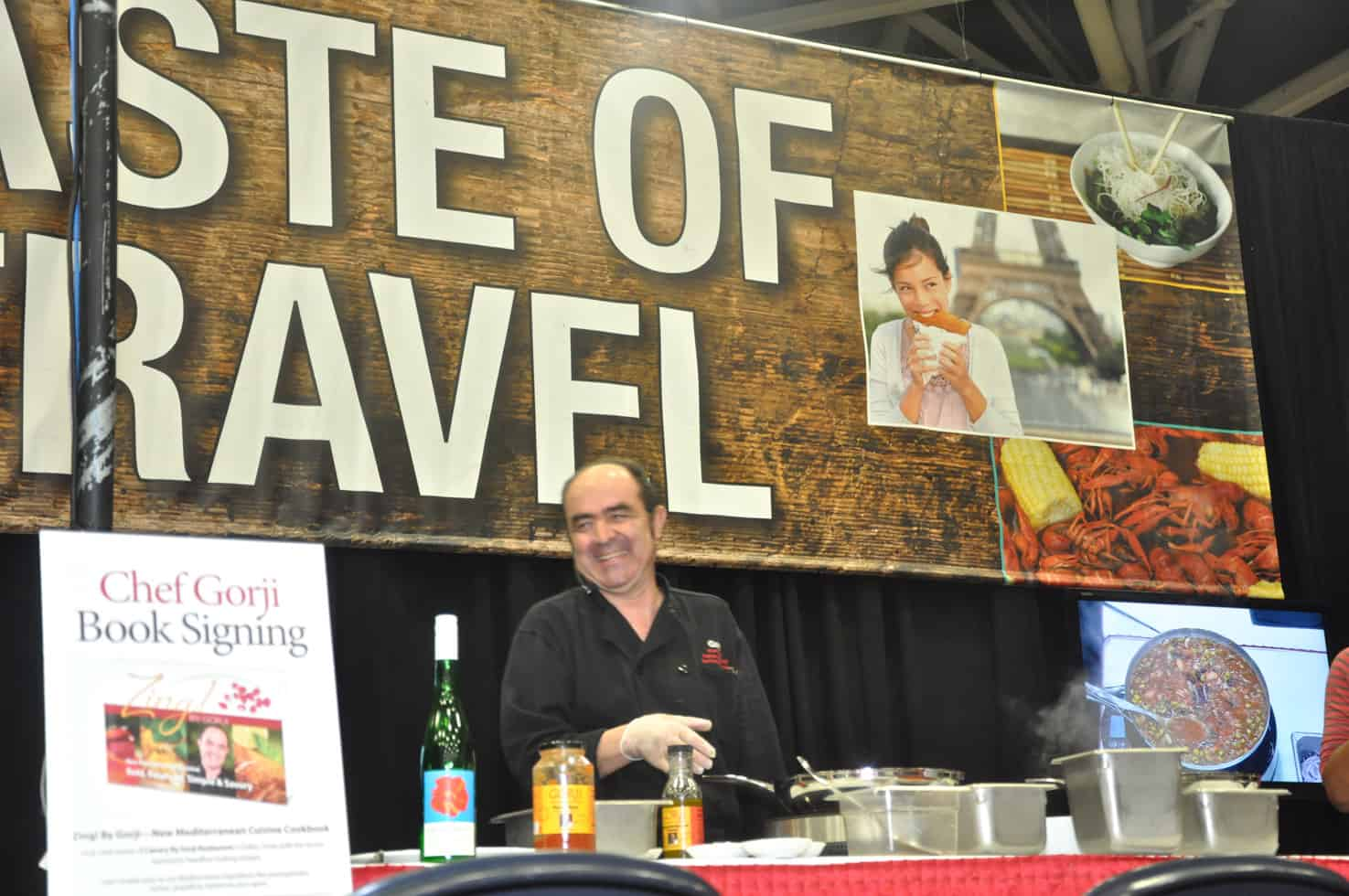 travel show cooking stage