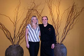 Amber Dietrich and Chef Gorji