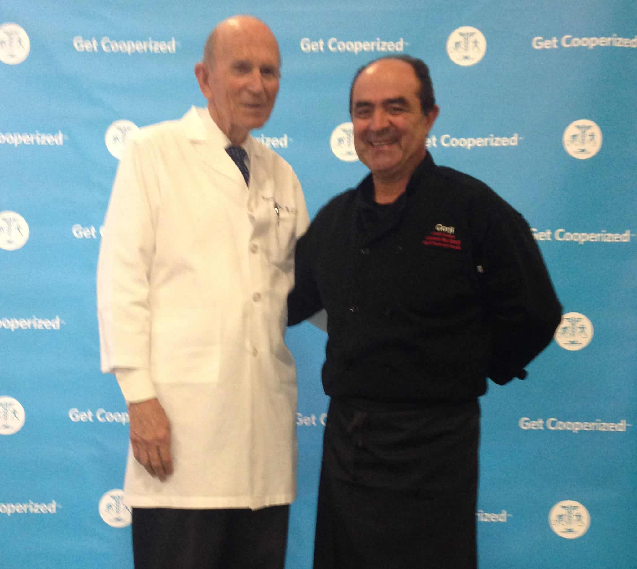 Dr. Kenneth Cooper and Chef Gorji