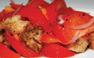panzanella salad with summer tomatoes