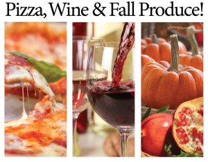 pumpkin pizza, wine event
