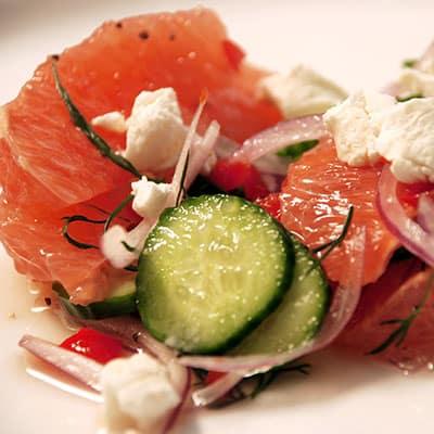 mediterranean cuisine grapefruit salad