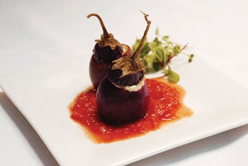baby eggplant in dallas at canary by gorji