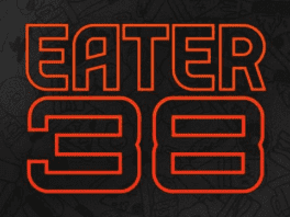 Eater 38 Essential Restaurants logo in article about Canary By Gorji in Dallas, Texas