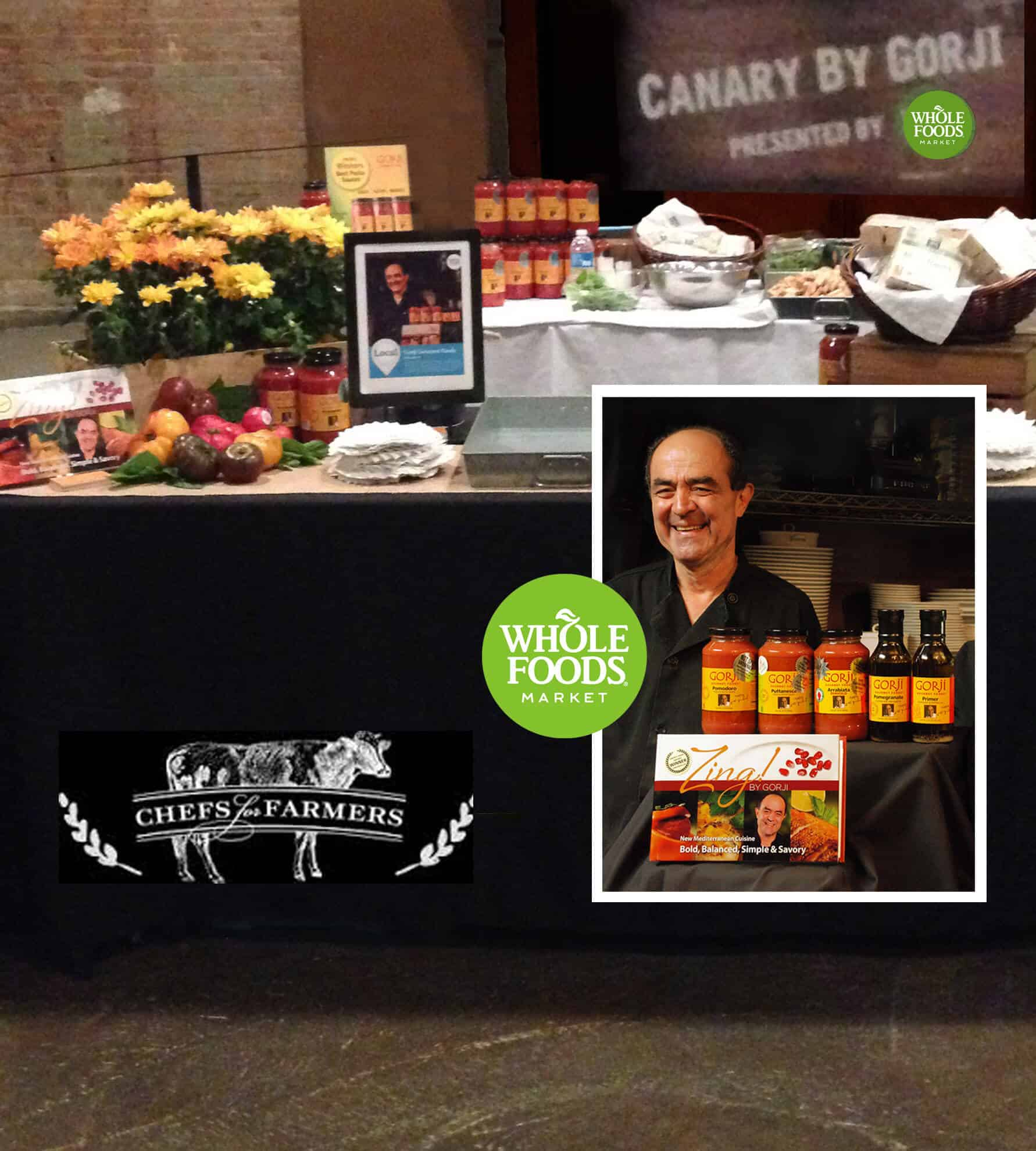 Chefs For Farmers 2016 Event and Chef Gorji with Whole Foods Booth