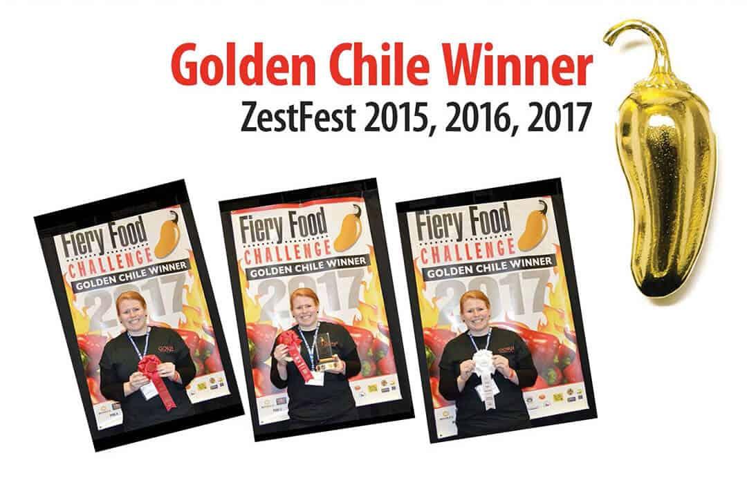 zestfest award winners & scovie award-gorji-gourmet golden-chile award