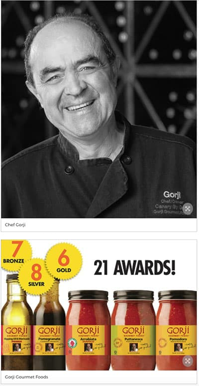 Chef Gorji, Gorji Gourmet Products