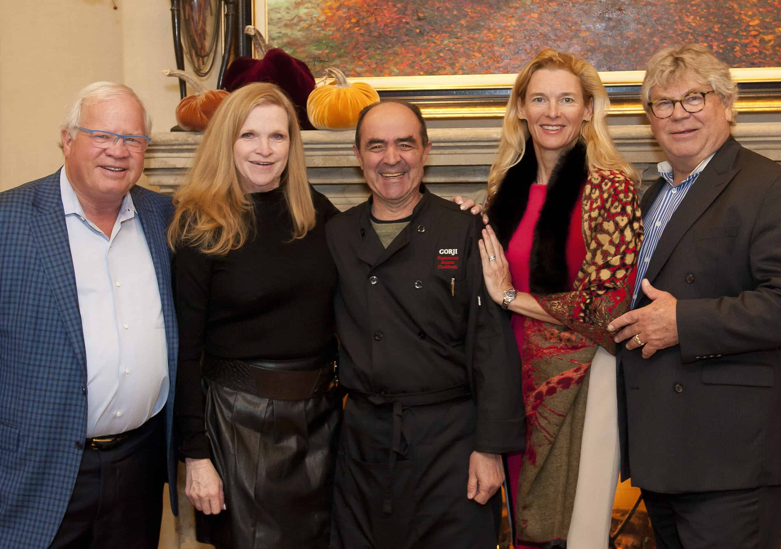 Gorji Honorary Chef Chair for Symphony of Chefs 2019 and Vinette & Mike Montgomery, Kaari & James K. Wicklund, Kaari & James K. Wicklund, Event Co-Chairs