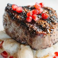 Gorji Prime Beef Tenderloin and Pomegranates