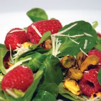Gorji Greens, Raspberries and Pistachios