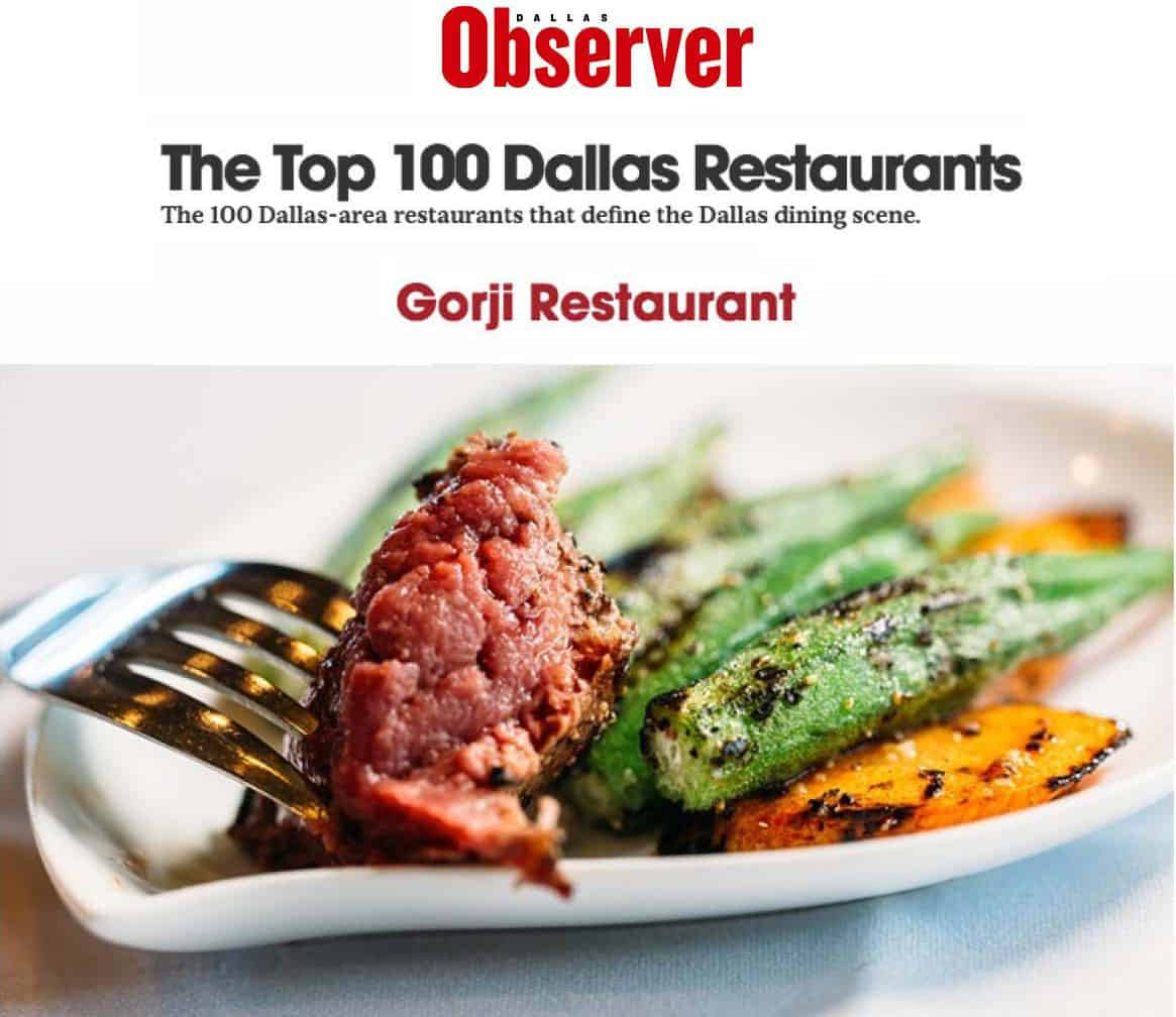 Dallas Observer Top Restaurants: Gorji #15