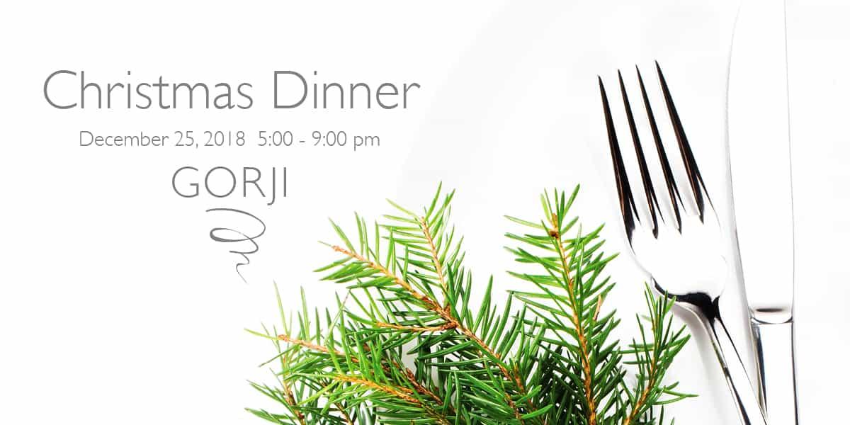 Christmas Dinner at Gorji Restaurant