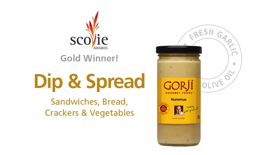 Gorji Gourmet Hummus Without Tahini Dip and Sandwich Spread