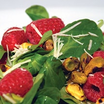 Greens with Raspberry