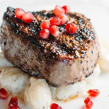 Steak with Pomegranates