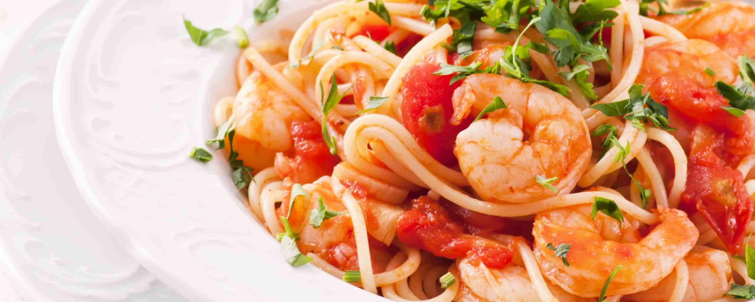 Gorji Gourmet Sauces and Shrimp dish.